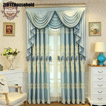 Blue Style Jacquard Chenille Embroidery Shading Screens Customized Curta... - $46.00+