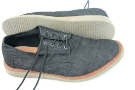 Toms Mens Brogues Oxfords Size 11 Gray Canvas Lace-Up Casual Career Shoes - $29.70