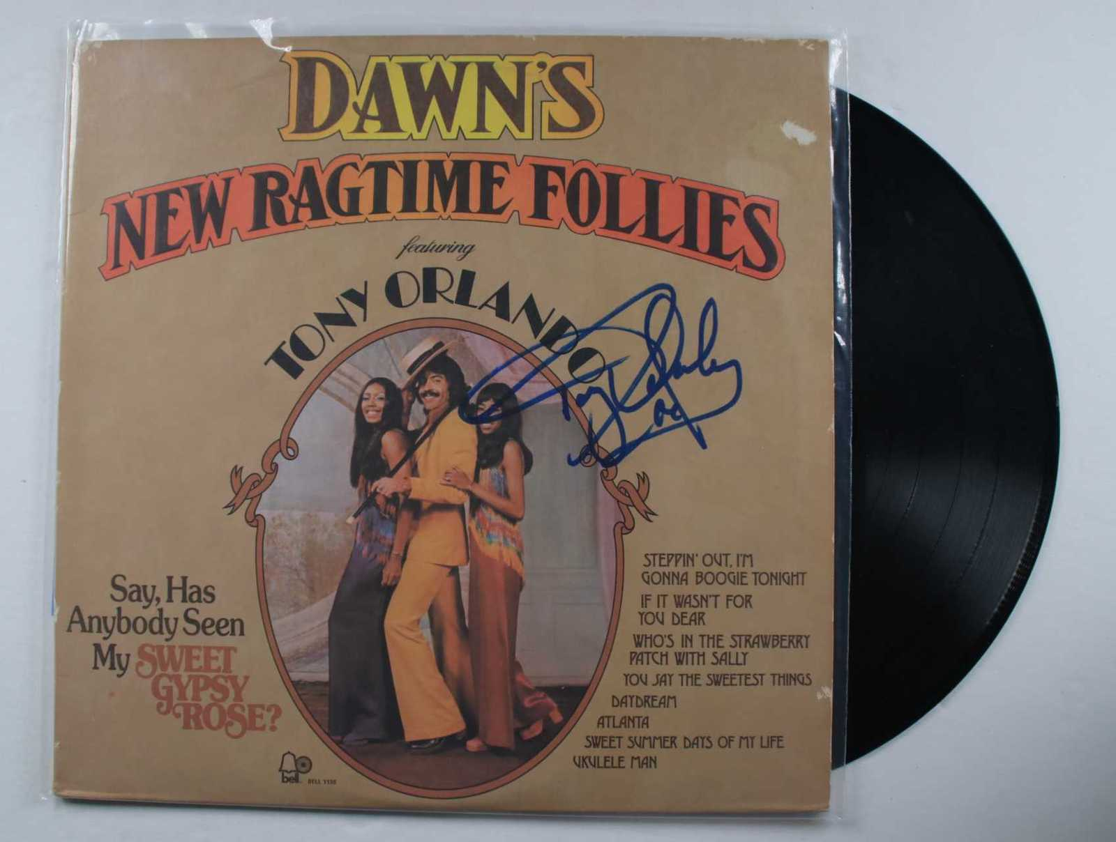 "Primary image for Tony Orlando Signed Autographed ""New Ragtime Follies"" Record Album"