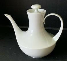 Block Bidasoa White Teapot 32 Oz Spain Espana Blanco Art Deco MCM Clean ... - $19.79