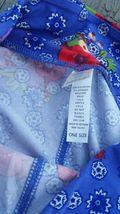 Lularoe OS One size Purpley Blue Floral Leggings Brand New So Cute! image 4