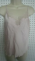 New Victoria Secret Washed Satin Cami - Sheer Pink with Lace Trim Size S - $19.75