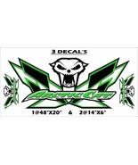 Arctic Cat Sno PRO, ZR, XF, Thundercat, Wildcat - 3pc Skull Decal Kit - $29.69+