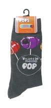 TOOTSIE POP Socks sz M/L Medium/Large (6-12) Grey - $17.99