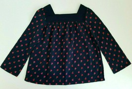GapKids Girls Top Long Sleeved Nave Apples Size 5 years NWT - $17.99