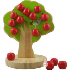 Wooden Magnetic Apple Tree Math Toys