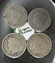 Liberty Head Nickel Five-Cent V Pieces  1894, 1897, 1998 and 1908 AA20-CNN2148 A image 8