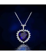""""""" Heart Of The Ocean """" Gorgeous Sapphire Blue Necklace- Limit of 3 - $1.99"""
