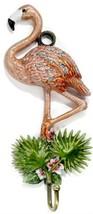 Kubla Flamingo enameled wall hook. Beautiful. Aviary.Birds.Wildlife.Key ... - $39.95