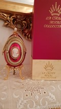Red Russian egg FABERGE style egg / Collector showpiece /  FABERGE EGG style pho - $493.00
