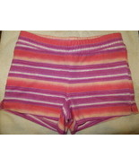 Gymboree Mix N Match Striped Coral Pink Knit Shorts Size M Medium 7-8 7 8 - $15.76