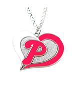 MLB Sports Team Logo Philadelphia Phillies Swirl Heart Necklace - $8.25