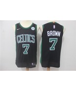 2017 Boston Celtics #7 Jaylen Brown black basketball jersey - $26.66