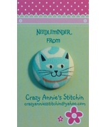 Cat Blue Needleminder fabric cross stitch needl... - $7.00