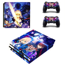 PS4 Pro Console 2 Controllers Fate/Stay Night Saber Vinyl Skin Stickers Set Wrap - $14.00