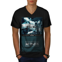 Party Life Shirt Up All Night Men V-Neck T-shirt - $12.99+