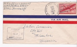 WORLD WAR II EXAMINED MAIL US ARMY POSSTAL SERVICE JUNE 25, 1944 - $2.68
