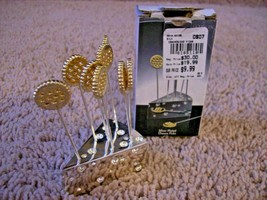 GODINGER SILVERPLATED 8 CHEESE PICKS ON SLICE OF CHEESE - $8.41