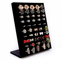 Homanda Black Velvet L Shaped 50 Slots Ring Display Storage Organizer Ho... - ₹1,268.68 INR