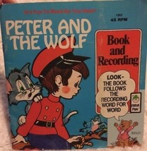 PETER PAN Peter And The Wolf Book And Record 45 RPM  - $6.43