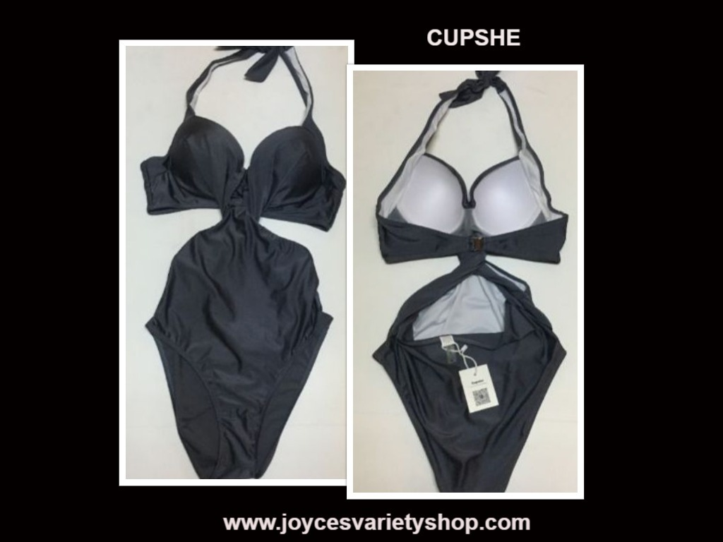 Cupshe silver swimsuit web collage