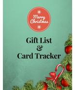 Christmas Gift List Card Recorder Tracker X'mas Planner Address Book Org... - $12.98