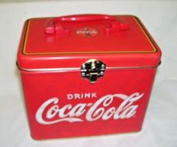 Hinged Coca Cola Tin Box Replica of Cooler - $32.71