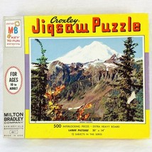 "Vintage 1965 MB Croxley 500 Piece Puzzle Mount Baker Wa New Sealed 20"" x 14"" - $47.50"