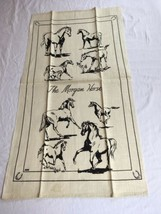 VTG NOS Kay Dee MORGAN HORSE Linen Kitchen Tea Towel image 1