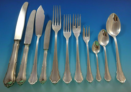 Chippendale by HB Hammer German 800 Silver Flatware Set For 12 Service 140 Pcs - $8,500.00