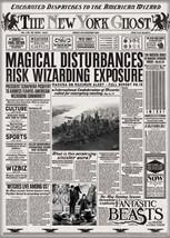 Fantastic Beasts Movie NY Ghost Newspaper Refrigerator Magnet Harry Pott... - $3.99