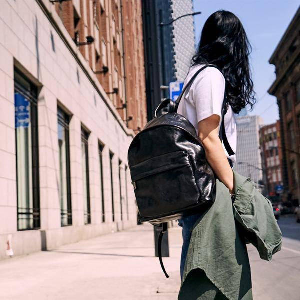 Sale, Full Grain Leather Women Backpack, Handmade Travel Backpack, School Backpa
