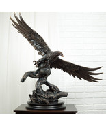 Large King Of The Skies Majestic Bald Eagle Swooping Over Tree Branches Statue - $299.99