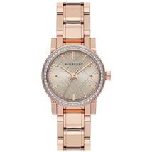 Burberry BU9225 Swiss 54 Diamond Bezel Rose Gold Tone Watch 26mm - Warranty - $439.00