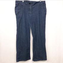 Talbots Signature Flare Denim Jean Women Size 12 Waist 36 Inseam 29 - $17.95