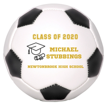 Personalized Custom Class of 2020 Graduation Mini Soccer Ball Gift Gold ... - $34.95