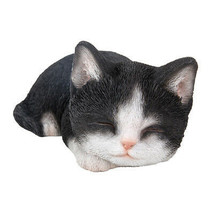 """Animal Collection Sleeping Black and White Kitten Figurine Statue 7 7/8""""... - £14.30 GBP"""