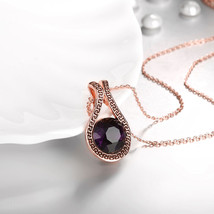 925 Silver 3.5ct African Amethyst, Amethyst & White Topaz Cluster Necklace - $12.73