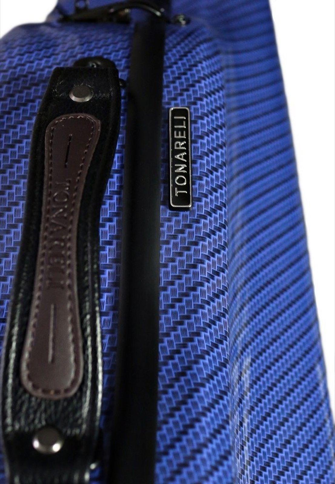 Tonareli Cello-shaped Fiberglass Viola Case w/Wheels - Special Edition Blue C...