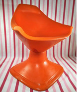 Rare Space Age Vintage SWIVET Orange Moulded Products MOD Child's Swivel... - $150.00