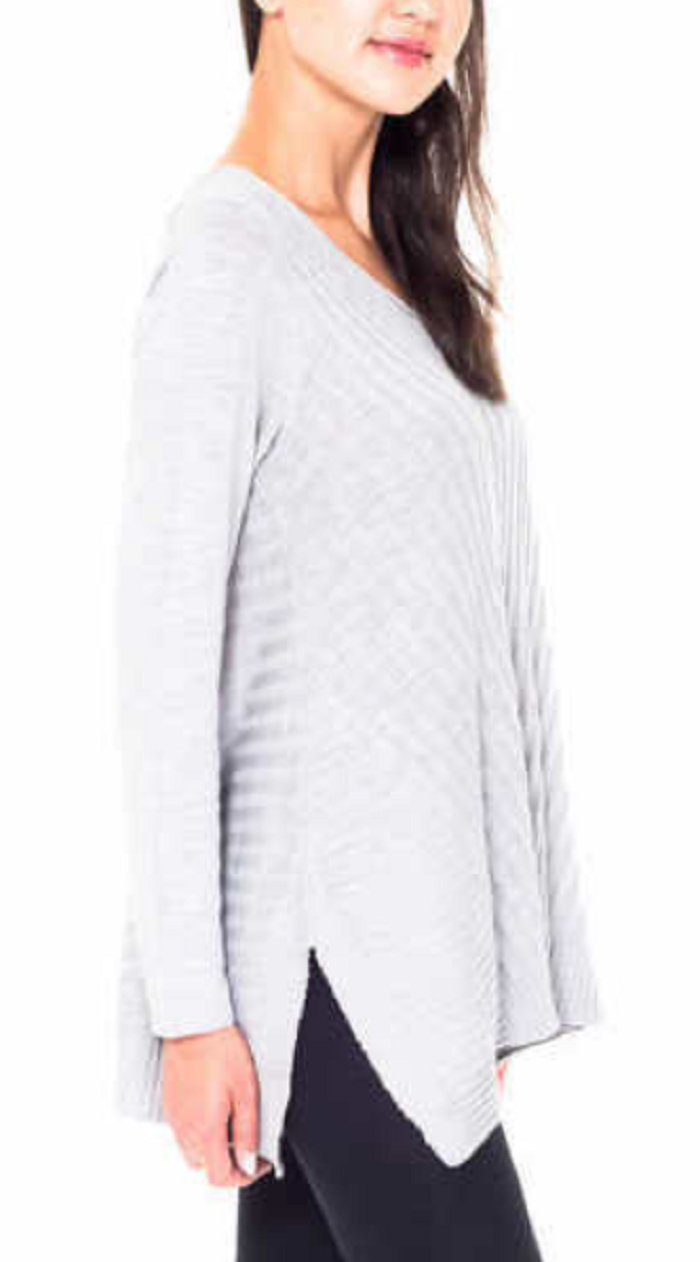 Beatrix Ost Ladies' V Neck Sweater ,Gray, Size XXL image 3