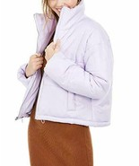Celebrity Pink Juniors' Cropped Puffer Coat Lilac Size Large - $28.51