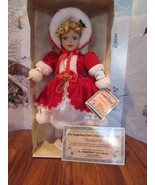 Fine porcelain 2001 Angelina Doll  edition collection blond curly hair R... - $39.60