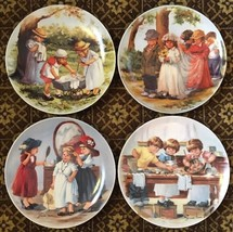 """Knowles """"Friends I Remember"""" by Jeanne Down Set of 4 Collector Plates - $17.81"""