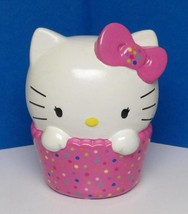 HELLO KITTY Pink Cupcake Confetti Queen Sanrio Ceramic Decorative Bank - $9.95