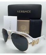 Nuevo Versace Gafas de Sol Ve 2150-q 1341/87 Oro y Blanco Aviador Montur... - $299.59