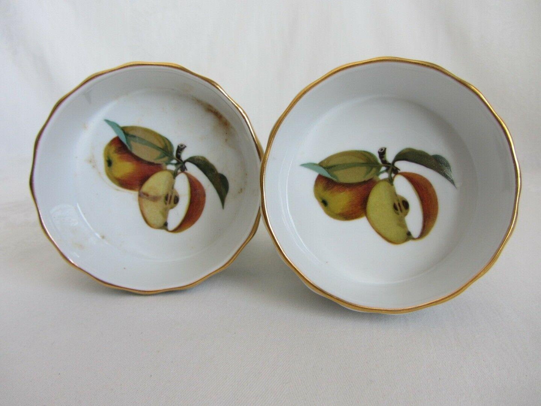 Royal Worcester Evesham Souffle Dish + 4 individual Dessert Quiche Bowls Fluted