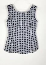 Banana Republic Womens Peplum Top Size 0 Sleeveless Zippered Back - $17.81