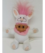 Easter Bunny Rabbit Pink Hair Russ Troll Vtg 90s Toy Doll 2384 Animal Zo... - $19.79