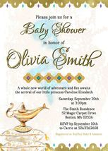 Arabian Nights Moroccan Baby shower Invitation Gold Baby shower Invitation - $0.99